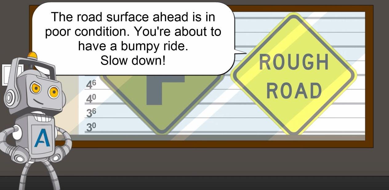 Rough road sign