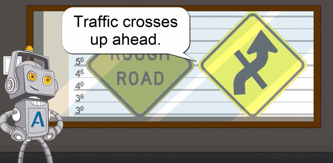 traffic crosses