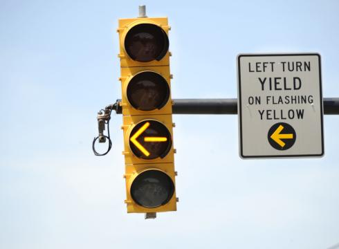 Left Turn Yield on Flashing Yellow (Sean Pollock/USAToday)
